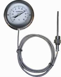gas filled thermometer capillary type