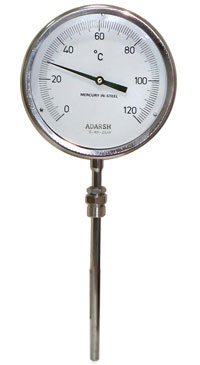gas filled thermometer rigid stem type